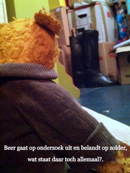 Kaatje's Beer gaat op onderzoek uit en belandt op zolder. Wat staat daar toch allemaal?